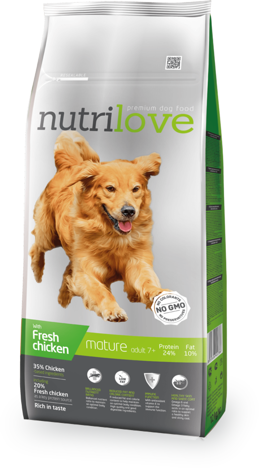 Nutrilove Fresh Chicken Senior 12kg
