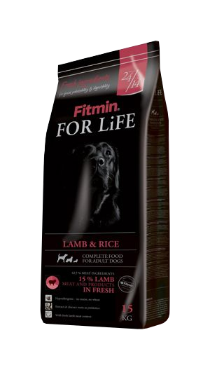 Fitmin dog for life lamb&rice 15kg