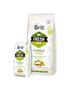 Brit Dog Fresh Duck & Millet Active Run & Work 2,5