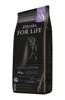 Fitmin dog for life light senior 15kg