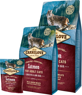 Carnilove Cat Salmon for adult Sensitive&LH 400g