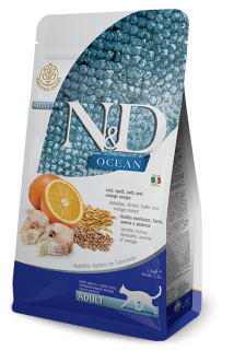 N&D LG CAT Adult Codfish & Orange 10kg